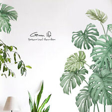 Leaves Mirror Wall Sticker PVC Plant Monstera Sticker Self-adhesive Wall Decals