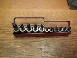MAC Tools 11 Piece Torx Socket Set T-8 to T-55 with Metal Tray ST11T