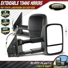 Black Extendable Towing Mirrors for Toyota Landcruiser 200 Series 2007-2019