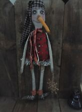 New ListingExtreme Primitive grungy Snowman Doll - Winter - Holiday - Decoration