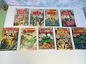 Lot of 9 Sgt. Rock and GI Combat DC Comics High Grade - No Reserve
