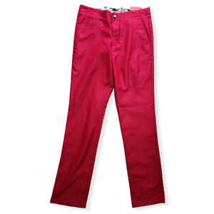 Callaway Mens Corded Tech Golf Trousers Persian Red Size W30 L32