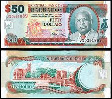 BARBADOS 50 DOLLARS (P70b) 2009 UNC
