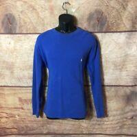Polo Ralph Lauren Mens Sweatshirt Blue Long Sleeve Crew 100% Cotton Pullover L