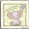 Baby Shower Card For Friend Sister Colleague Daughter Mummy To Be Cute Elephant