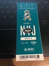2018 MIAMI DOLPHINS VS NEW YORK JETS NFL FOOTBALL TICKET STUB 11/4