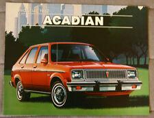 PONTIAC ACADIAN 1982 dealer brochure - French - Canadian Market