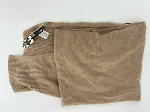 NWT Halogen 100% Cashmere Scarf Wrap Women's One Size Tan Camel Oatmeal