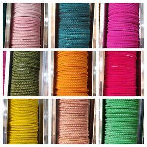 24 Pieces Multi Color Indian Wedding Style Plain Velvet Touch Glass Bangles