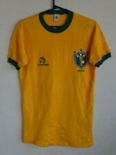 BRAZIL 1980's Home TOPPER Jersey NATIONAL TEAM Shirt Brasil World Cup 1982 WC !!