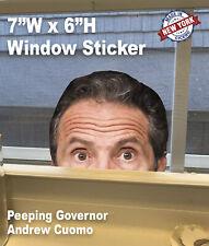 Andrew Cuomo /Bill DeBlasio Peeping Window Sticker Governor Watching NYS Peeking