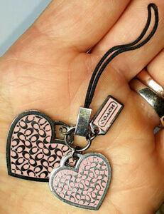 COACH HEARTS CELL PHONE LANYARD CUTE!!