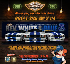FORD FALCON XC COBRA 40TH ANNIVERSARY BANNER HUGE 3m x 1m