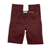 SONOMA Women 8 Mid Rise Slim Straight Stretch Denim Jeans Pants Maroon Red