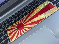 Le Japon Red/Gold Sparkle Sunrise Flag JDM Slap Car Sticker JDM Drift Jap Sticker