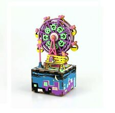 DIY Wooden Music Box Ferris Wheel - 3D Wooden Puzzle Kit by Beehive Toys