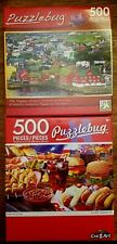 NEW Puzzlebug Set of Two (2) 500 Piece Jigsaw Puzzles SEALED