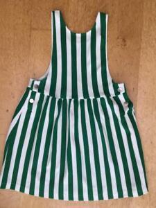 BNWOT ZARA GIRL Stretchy Cotton Knit Stripe Pinafore Dress  -   Size 8 Yrs