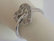 Cubic Zirconia White Gold Fine Rings