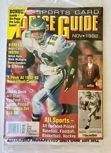 Sports Card Price Guide Nov1992 Randall Cunningham Cover/8 replica Cards NEW