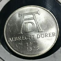1971-D GERMANY SILVER 5 MARKS BRILLIANT UNCIRCULATED