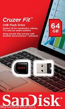 SanDisk 64GB Cruzer Fit CZ33 Flash Drive Thumb Memory Stick USB 2.0 BRISBANE