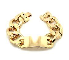 "Hip Hop Celebrity Style Aluminum Id Chunky Link Chain 24mm 8.75"" Bracelet Fxb349"