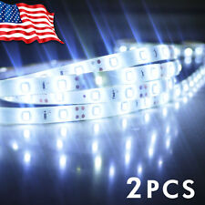 2X 7000K Cool White 5M 3528 SMD 300LED Strip Light Tape Home Boat Waterproof 12V