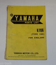 Ersatzteilliste / Spare Parts List Yamaha V 70 A / V70A Stand 03/1975