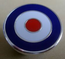 MOD TARGET BADGE - BLUE WHITE RED - 12MM 16MM OR 20MM DIA