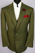 Burberry Tweed Blazer Jacket Green 42S AMAZING COLOUR 3262