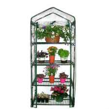 4 TIER COMPACT MINI GREENHOUSE COLD FRAME WITH REMOVABLE COVER INDOOR OUTDOOR