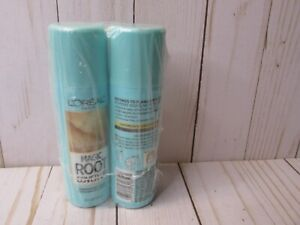 D5 (2) Loreal Magic Root Cover Up Concealer Hair Spray Light Blonde 2 pack