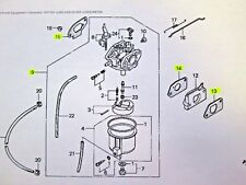 GENUINE HONDA OEM GENERATOR EX1000 CARBURETOR AND GASKETS 16100-ZC0-015