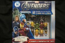 THE AVENGERS CHIBIS SET WITH 2 RARE PLATINUM CHIBIS INCLUDED! (CONTAINS 14)