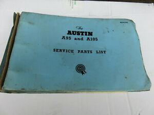 Austin A95, A105 Westminster Factory BMC Spare Parts Catalogue