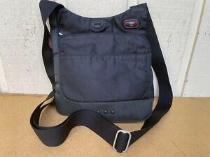 Tumi T-Tech Nylon Crossbody Messenger Bag Organizer Travel Purse.Black/Green/Red