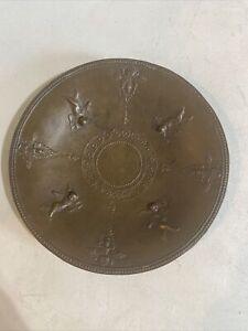Rare Metal Plate - Cherubs - Bronze Color - After Arretine Bowl