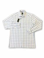 Olymp Luxor modern fit shirt in pink/white/blue glen check M rrp £60.00