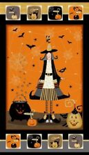 .6 Yard Cotton Fabric - Studio E DTK Signature Witchy Halloween Panel