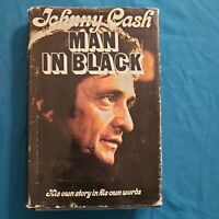 JOHNNY CASH / Man in Black 1ST Edition - 1975 - auto biography