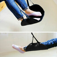 Comfy Hanger Travel Airplane Footrest Hammock Foot Made with Memory Foam Black S