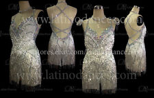 LATINO DANCE DRESS  COMPETITION  WITH HIGH QUALITY STONE M338