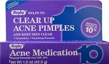 Benzoyl Peroxide 10 % Maximum Strength Acne Medication Gel 1.5 oz per Box