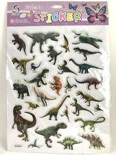 28 Assorted Dinosaur Sticker Animal Scrapbook Card Envelope Seal Kids School