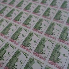 FEUILLE SHEET LIAISON TOUR EIFFEL PANTHÉON N°1770 x50 1973 NEUF ** LUXE MNH