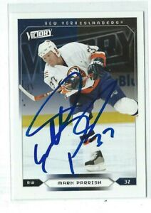 Mark Parrish Signed 2004/05 Upper Deck Victory Card #123