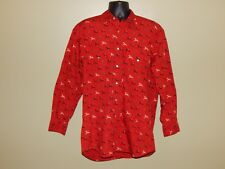 Pendleton High Grade Western Wear Horses & Riders Red Long Sleeve Shirt sz L EUC