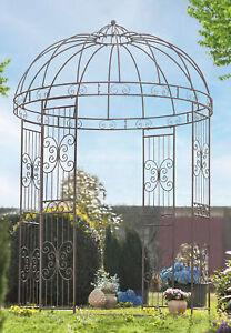 Metall Pavillon 2x3 m Antik Stil, Vintage Garten Deko, Retro Außen Dekoration