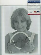 Chris Evert Pro Tennis Grand Slam Champion Autographed 8x10 Photo PSA COA